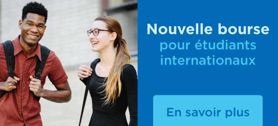 Bandeau - Nouvelle bourse pour étudiants internationaux